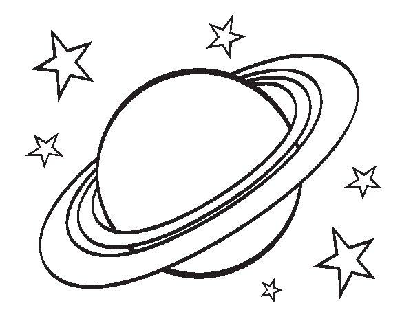 Dibuix de Anell planetari per Pintar on-line