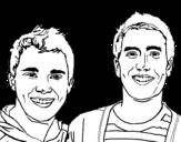 Dibuix de Big time Rush 3 per pintar