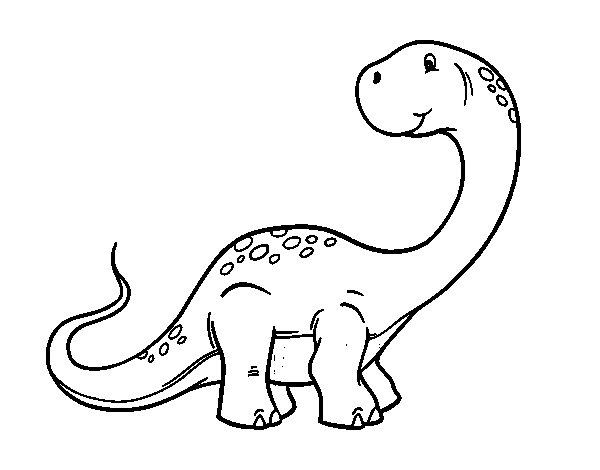 Dibuix de Brachiosaurus per Pintar on-line