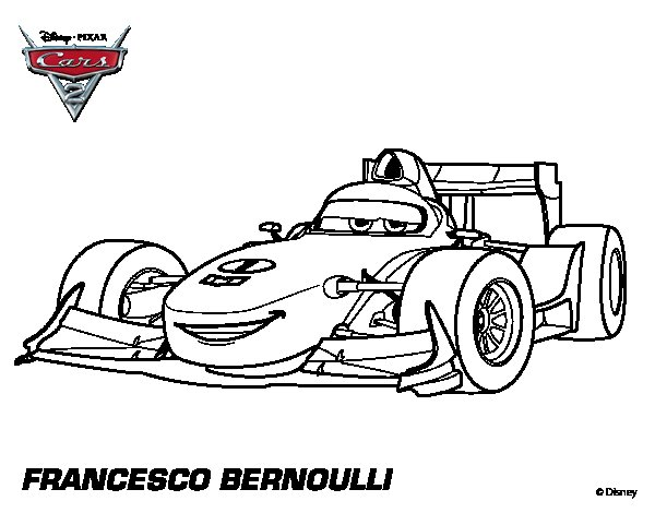 disegni da colorare cars francesco