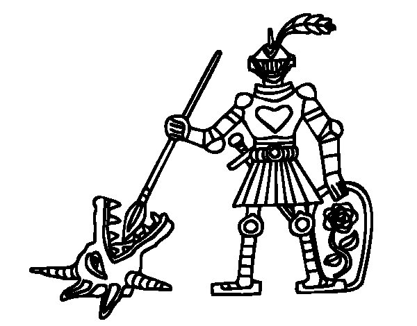Dibuix de Cavaller Sant Jordi per Pintar on-line