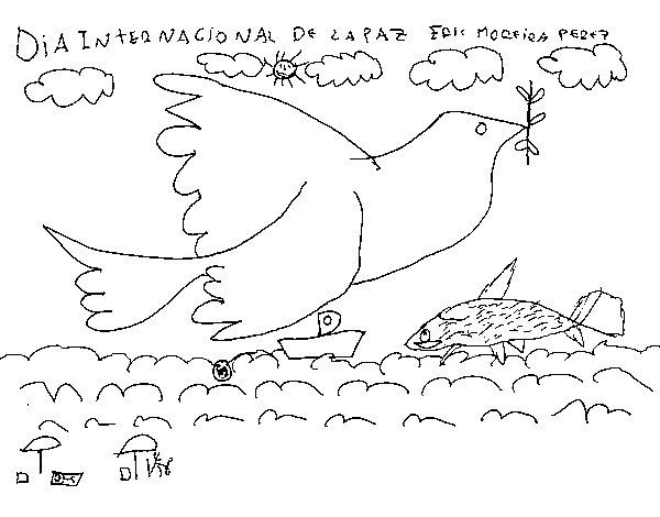 Dibuix de Dia Internacional de la Pau per Pintar on-line