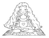 Dibuix de Embarassada practicant ioga per pintar