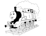 Dibuix de Thomas a tota màquina per pintar