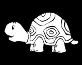 Dibuix de Tortuga alegre per pintar