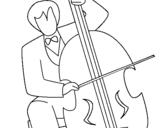 Dibuix de Violoncel per pintar