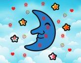 Lluna amb estels