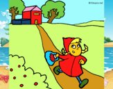 Dibuix La caputxeta vermella 3 pintat per IONE