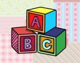 Dibuix Cubs educatius ABC pintat per IONE