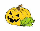 Carbassa decorada de Halloween
