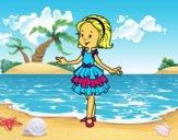 Nena amb vestit de festa